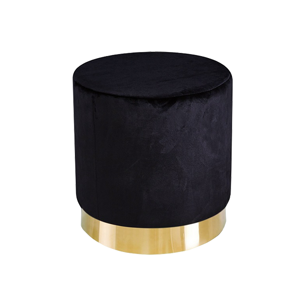 black-velvet-pouffe-hire