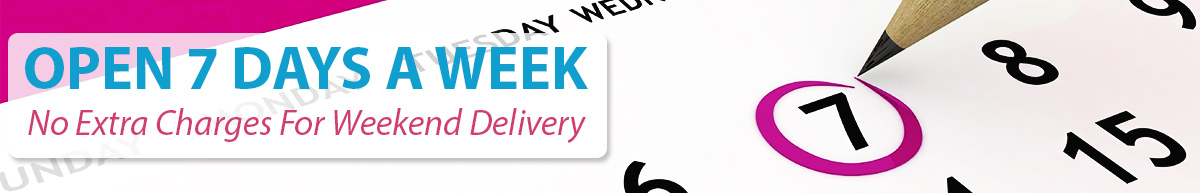 Open & Delivering 7 Days A Week